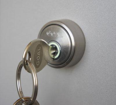 室内に鍵を閉じ込めた